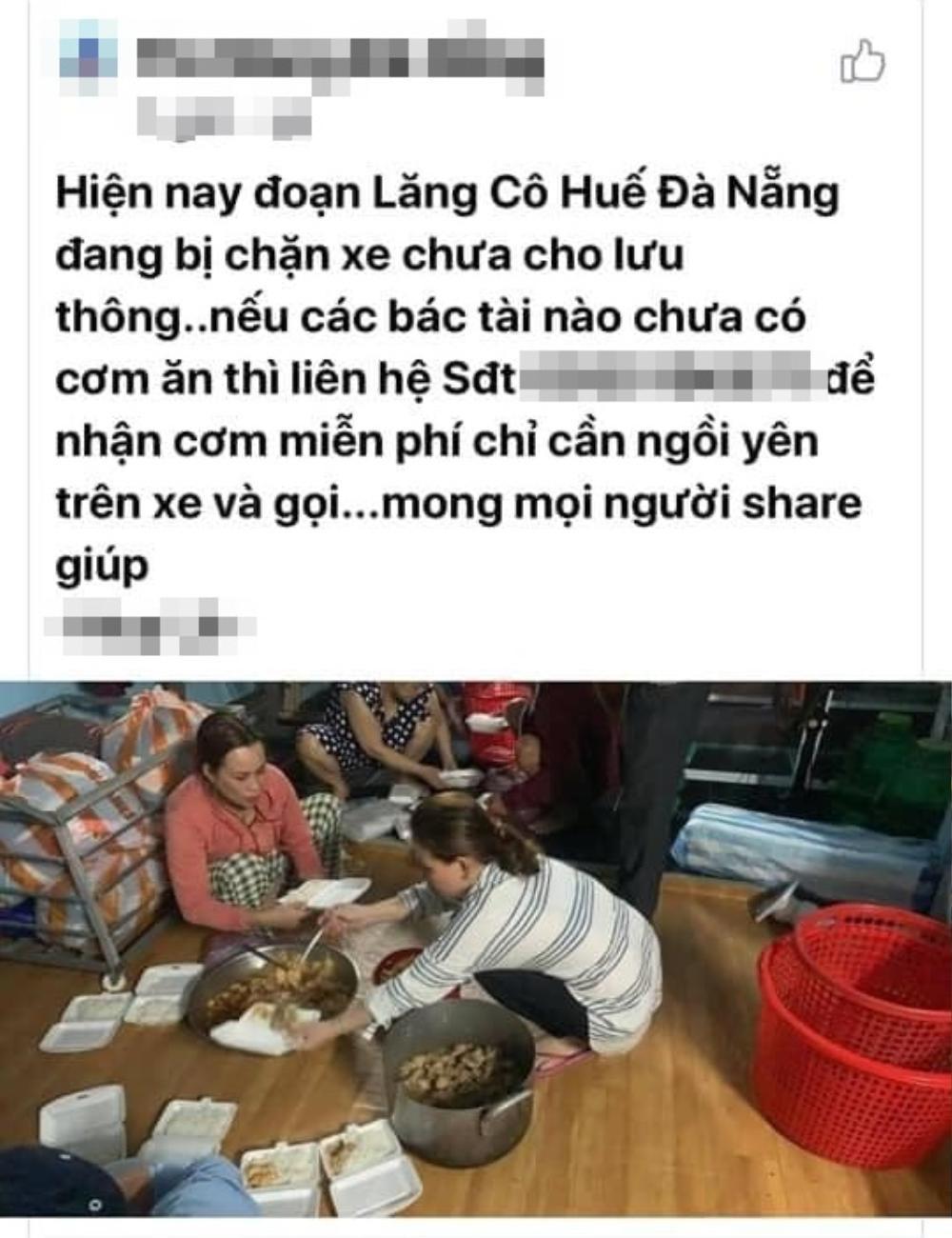 Ấm lòng chuyện người dân Huế gõ cửa từng xe trú bão để phát cơm miễn phí bấp chấp mưa gió Ảnh 5