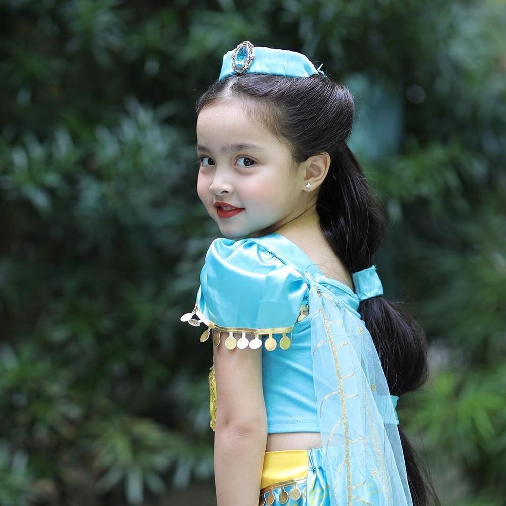 Con gái 'mỹ nhân đẹp nhất Philippines' Marian Rivera gây sốt khi cosplay công chúa Jasmine Ảnh 2
