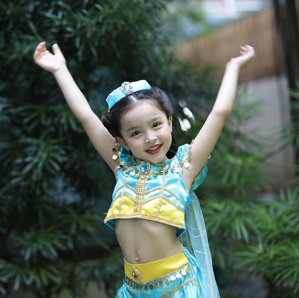 Con gái 'mỹ nhân đẹp nhất Philippines' Marian Rivera gây sốt khi cosplay công chúa Jasmine Ảnh 1