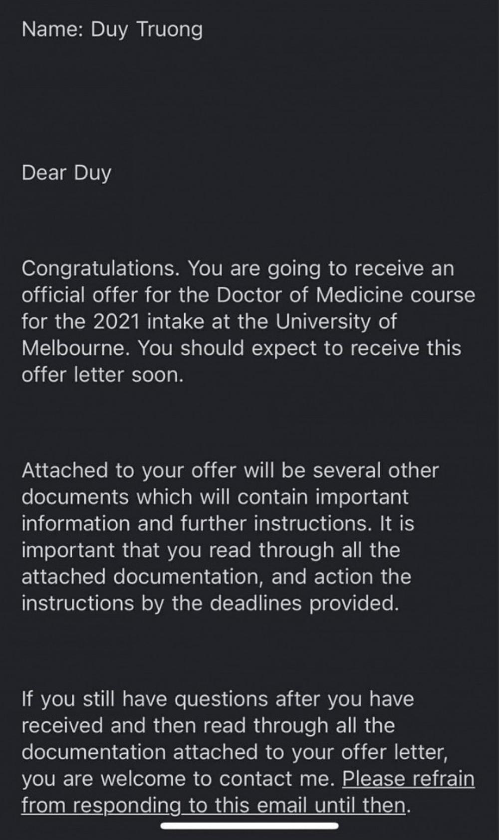 Mỹ Linh hạnh phúc khi con trai được nhận thông báo đỗ vào trường Đại học Y ở Úc Ảnh 2