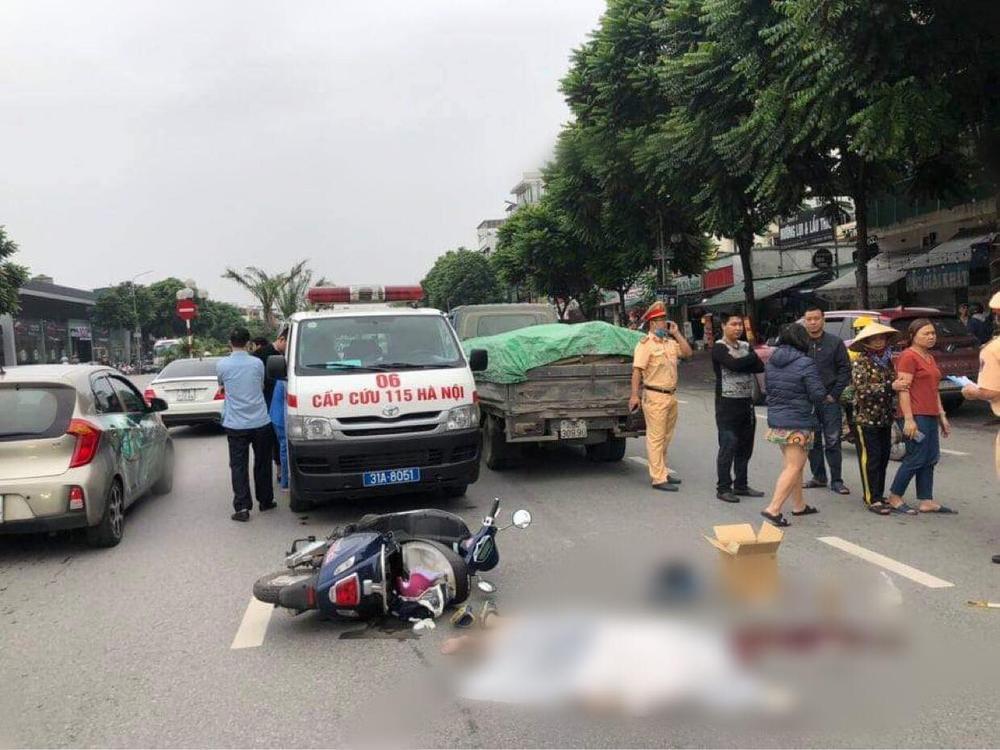 Va chạm giữa ô tô tải và xe đạp điện khiến thiếu nữ 15 tuổi tử vong Ảnh 1