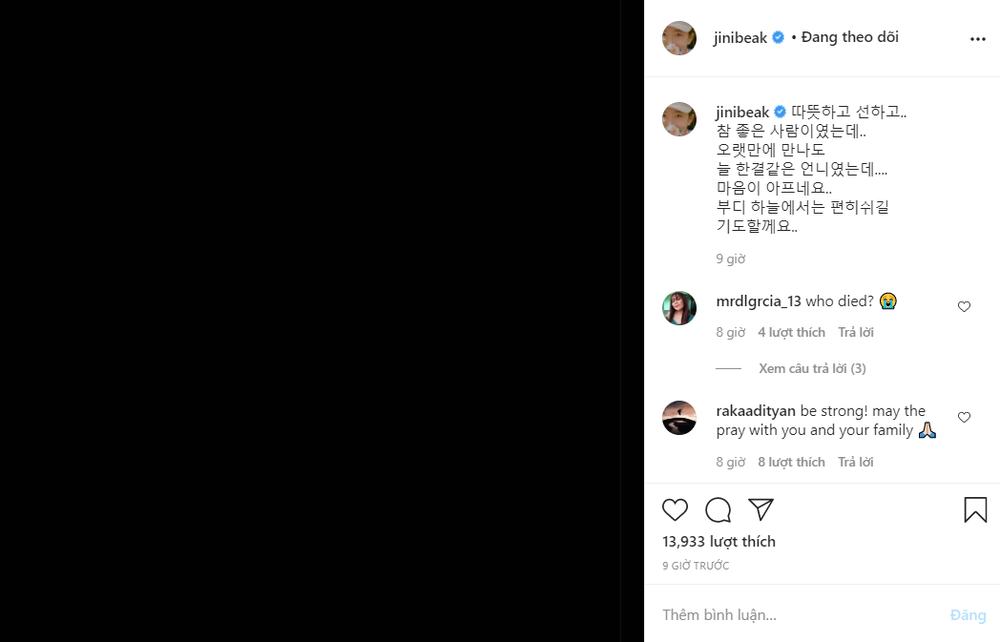 Kim Go Eun, Junho, SHINee, Suju và hàng loạt sao Hàn sốc trước tin Park Ji Sun qua đời Ảnh 17
