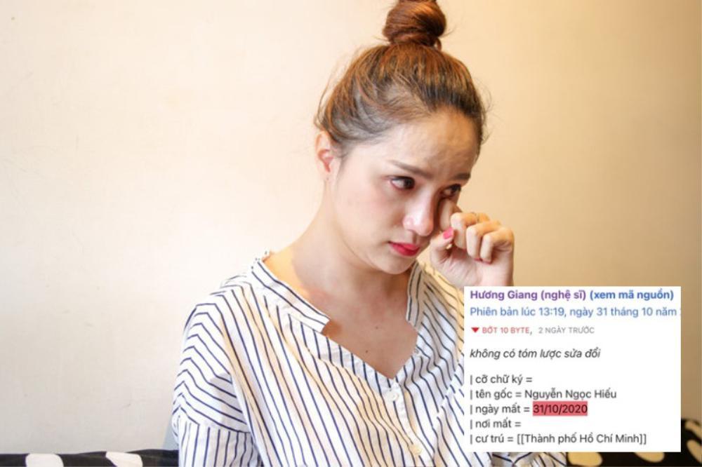 Antifan đùa không hề vui, thêm cả ngày mất của Hương Giang trên Wikipedia Ảnh 2