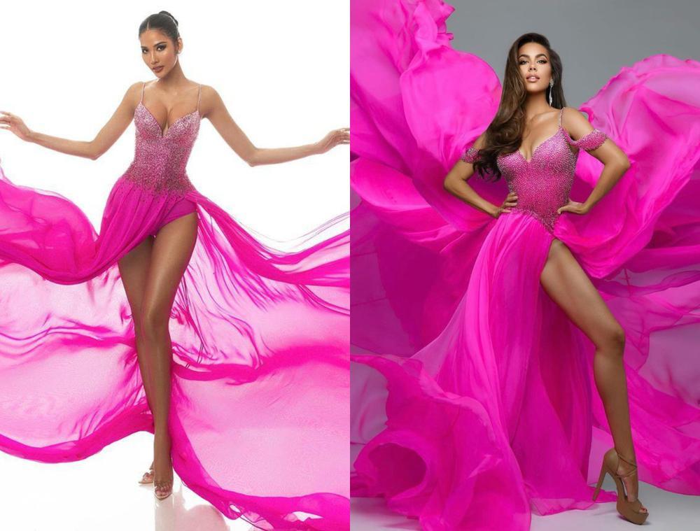Thí sinh Miss USA mặc lạc quẻ giống Kiều Loan, đạo nhái váy Hoàng Thùy trong phần thi dạ hội Ảnh 11