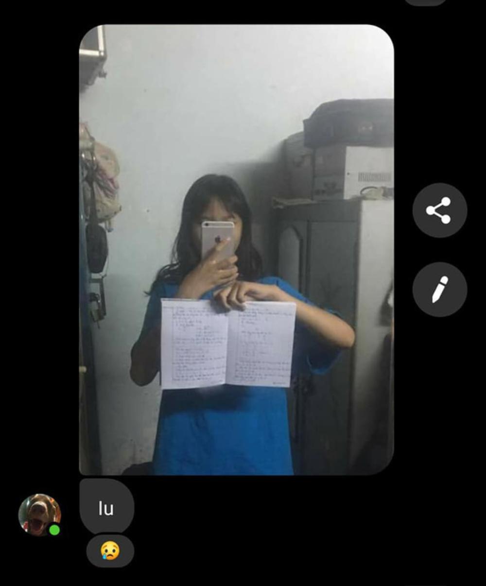 Nữ sinh 'ngậm đắng nuốt cay' khi nhờ bạn thân chụp hộ ảnh bài học để ghi chép lại Ảnh 2