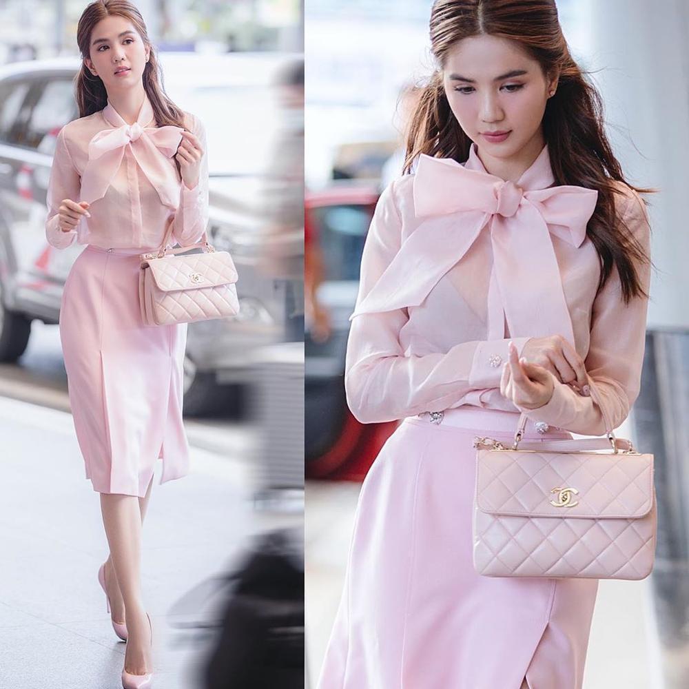 Ngọc Trinh hoá tiểu thư ngọt ngào với chiếc váy hồng ngọt, không cần rượu fan cũng tự khắc say Ảnh 4