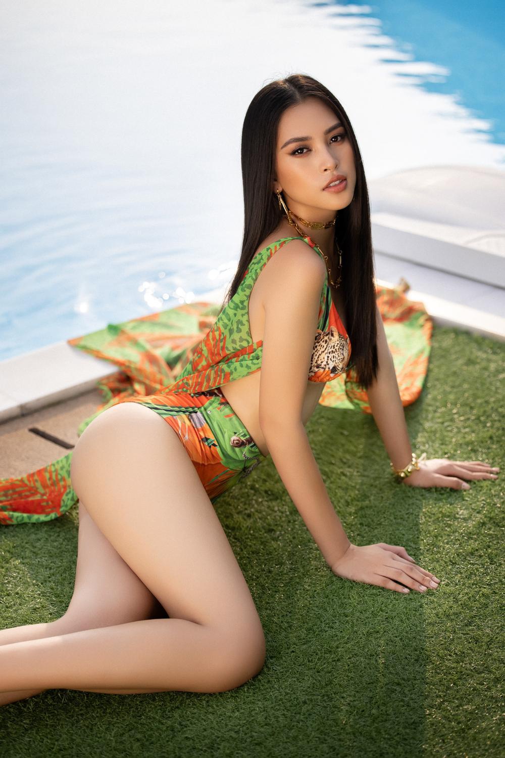 Tiểu Vy - Phương Nga - Thúy An khoe hình thể quyến rũ trước ngày kết thúc nhiệm kỳ Hoa hậu Việt Nam Ảnh 2