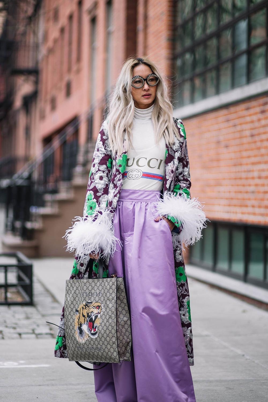 Thu/đông 2020: Fashionista khắp thế giới rộn ràng trong bữa tiệc thời trang lông vũ Ảnh 14