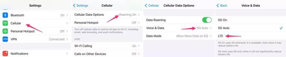 Cách tắt mạng 5G trên iPhone 12 Pro Max