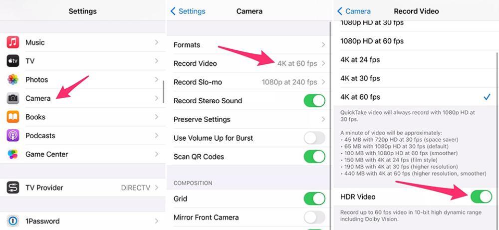 cách quay video HDR iPhone 12 Pro Max