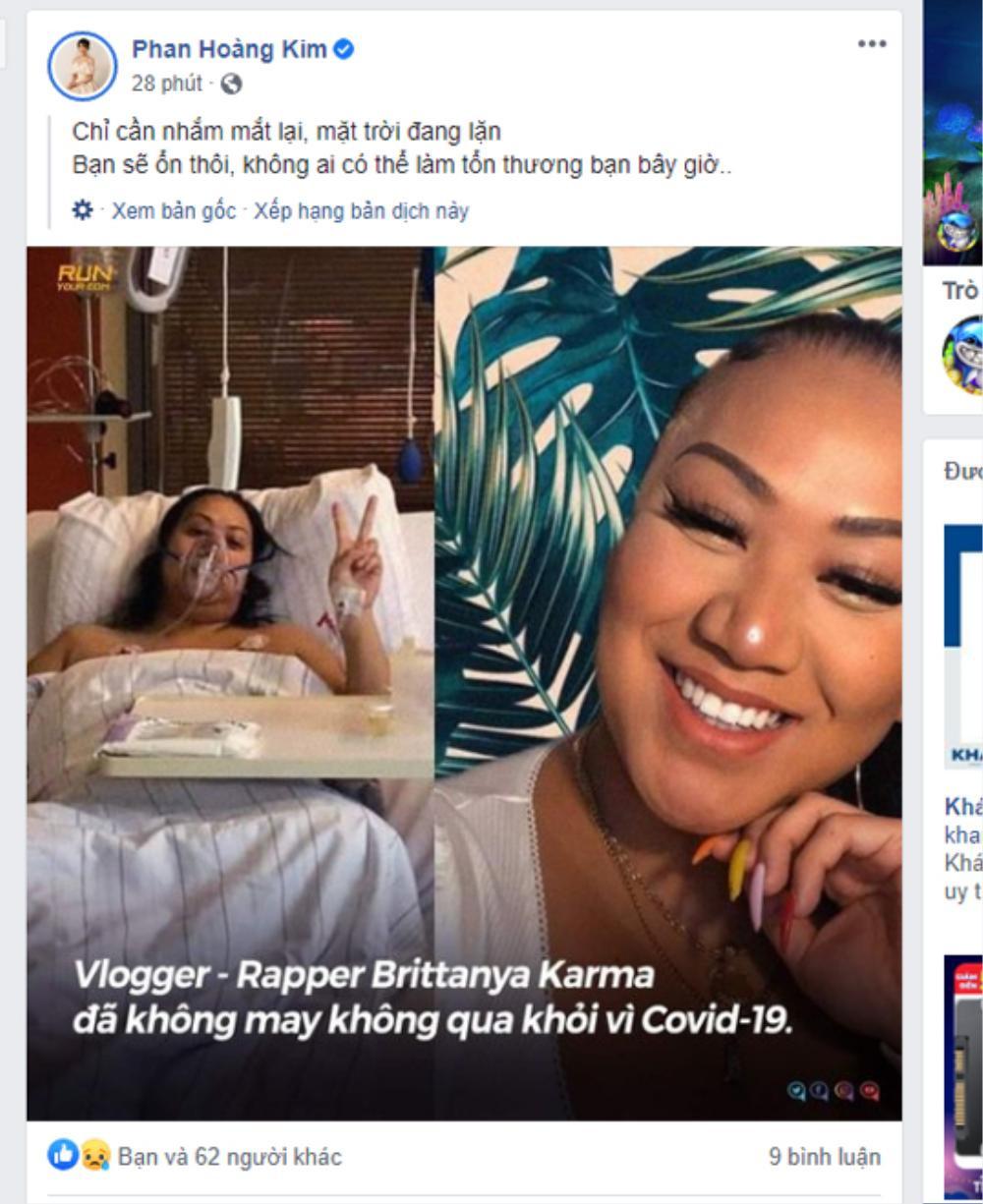 Dân mạng sốc và đau xót trước tin hot YouTuber Brittanya Karma qua đời vì COVID-19 Ảnh 5