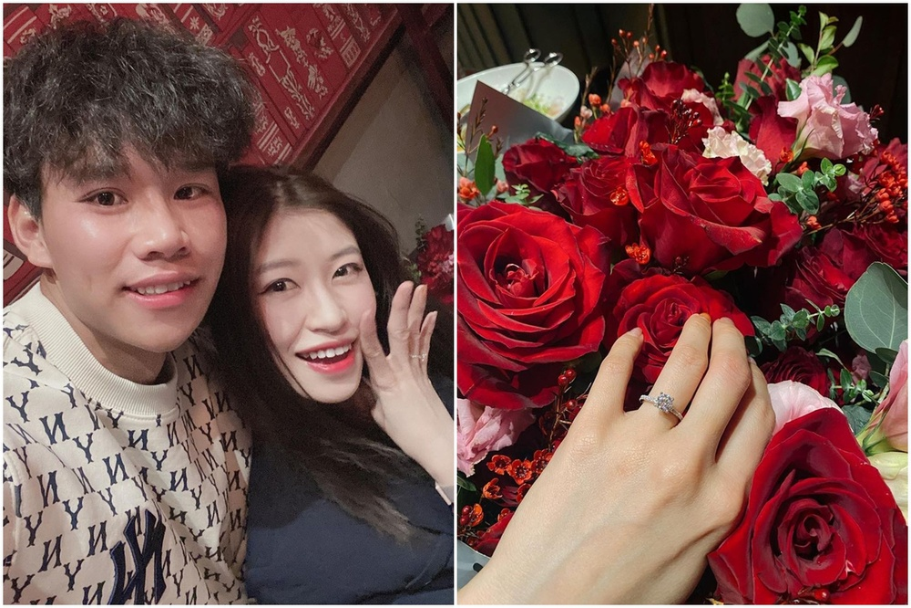 Nàng WAGs Vóc Đỗ khoe được cầu thủ Hà Nội FC cầu hôn bất ngờ Ảnh 1