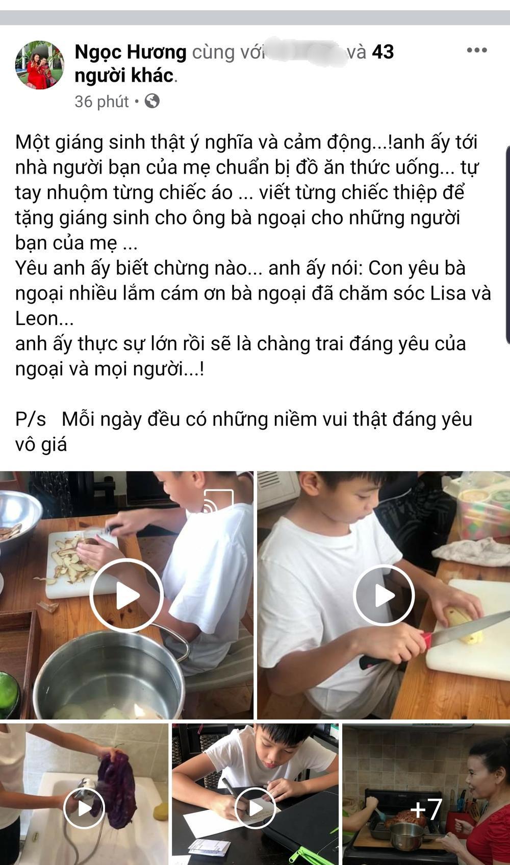 Bà ngoại Subeo không ngại cho cháu cầm dao, cùng nhau xuống bếp chuẩn bị đồ ăn cho Hà Hồ, Kim Lý Ảnh 1