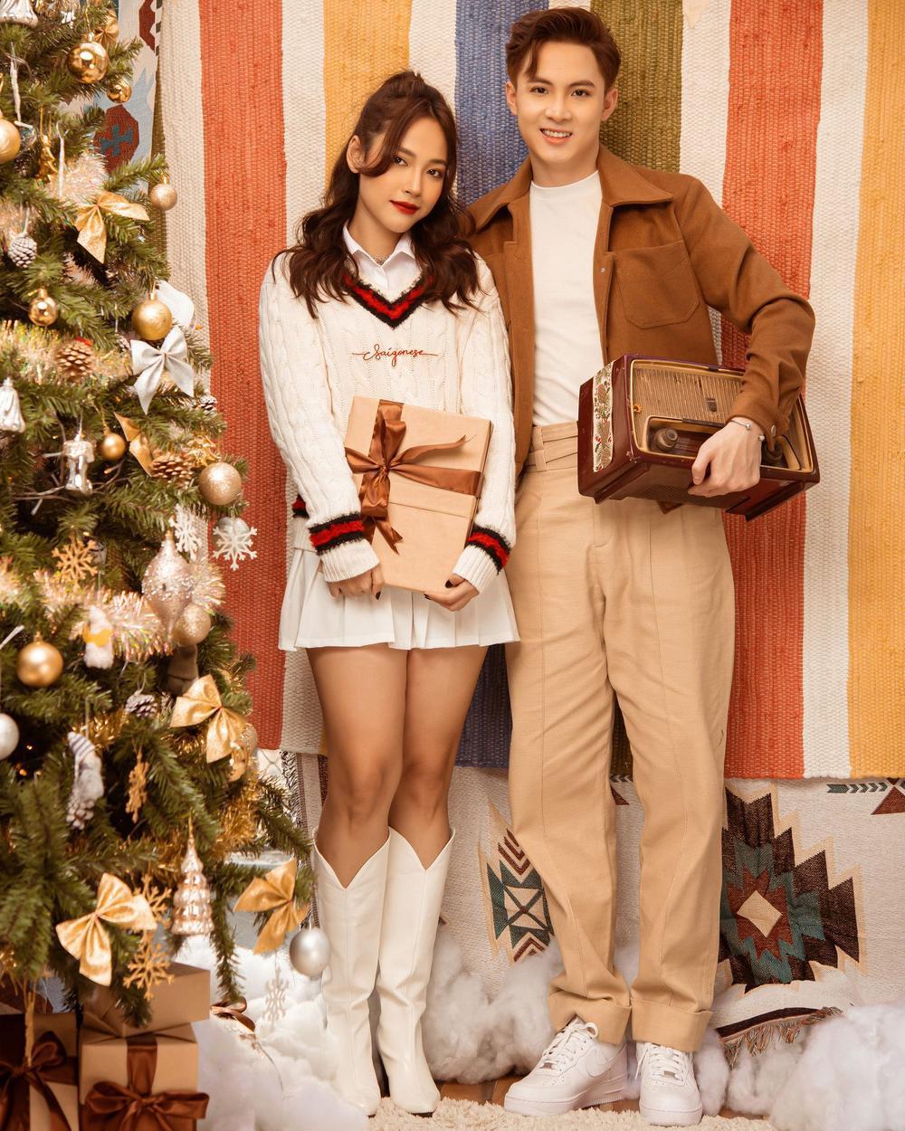 Cara - Noway tung bộ ảnh Giáng Sinh ấm áp, phát 'cẩu lương' miễn phí khiến fan ghen tị Ảnh 3