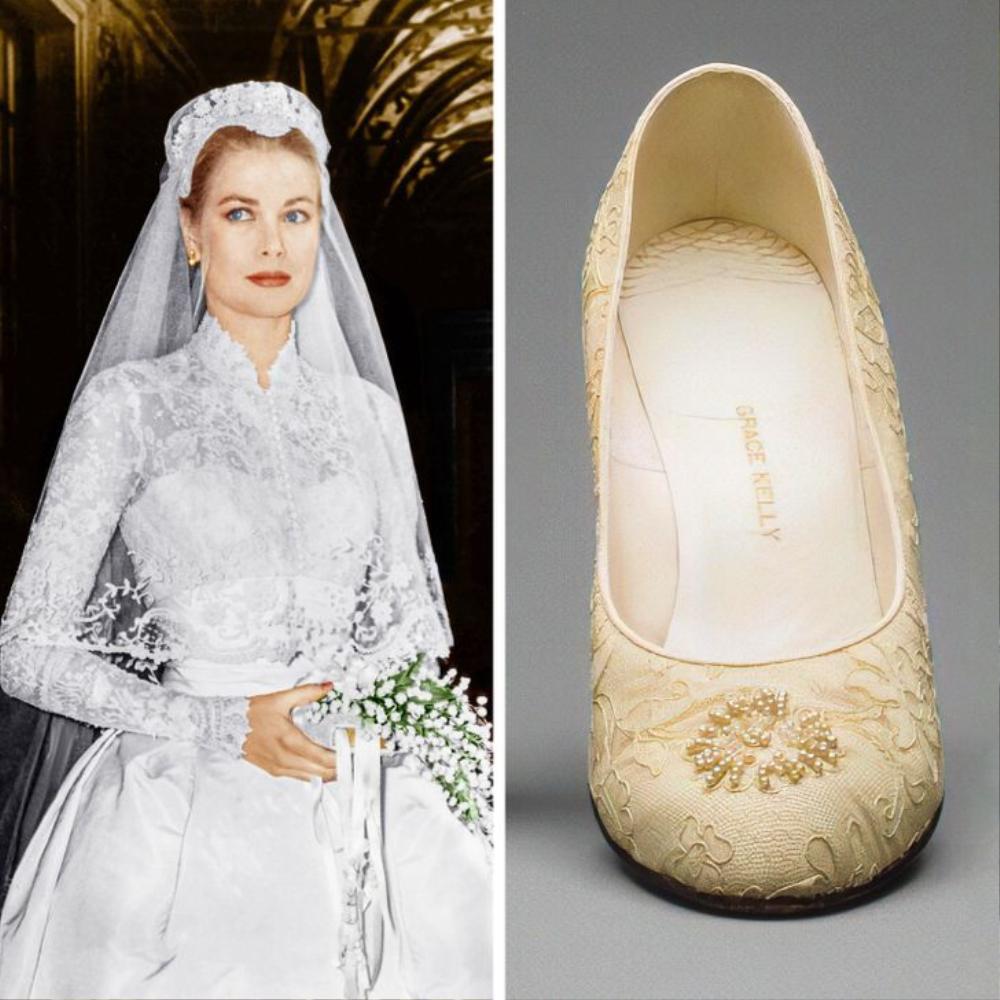 10 đôi giày cao gót huyền thoại trong đám cưới Hoàng gia và Hollywood Ảnh 4