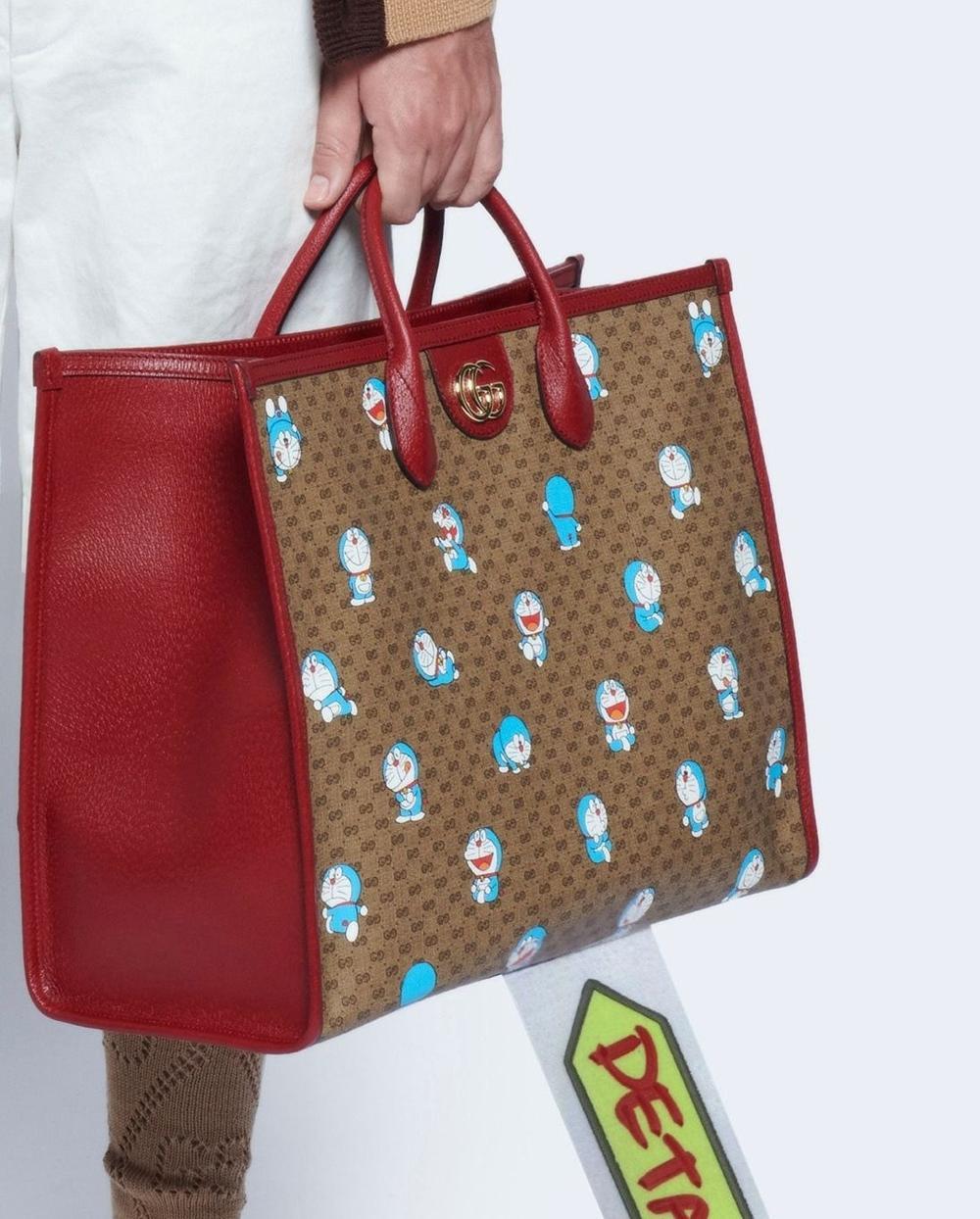 Gucci in hình Doraemon lên túi xách, quần áo bán giá ngàn đô Ảnh 4
