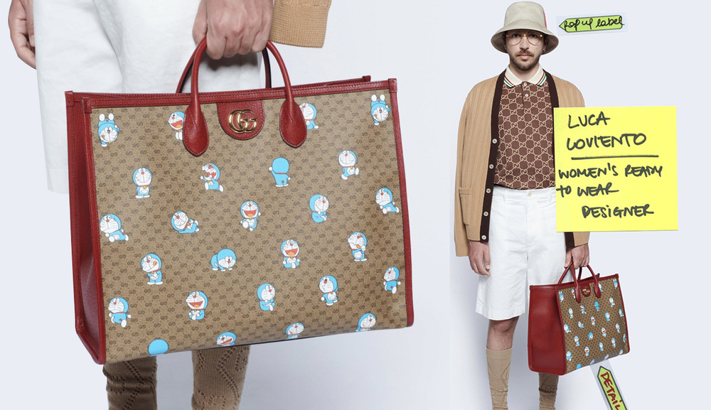 Gucci in hình Doraemon lên túi xách, quần áo bán giá ngàn đô Ảnh 1