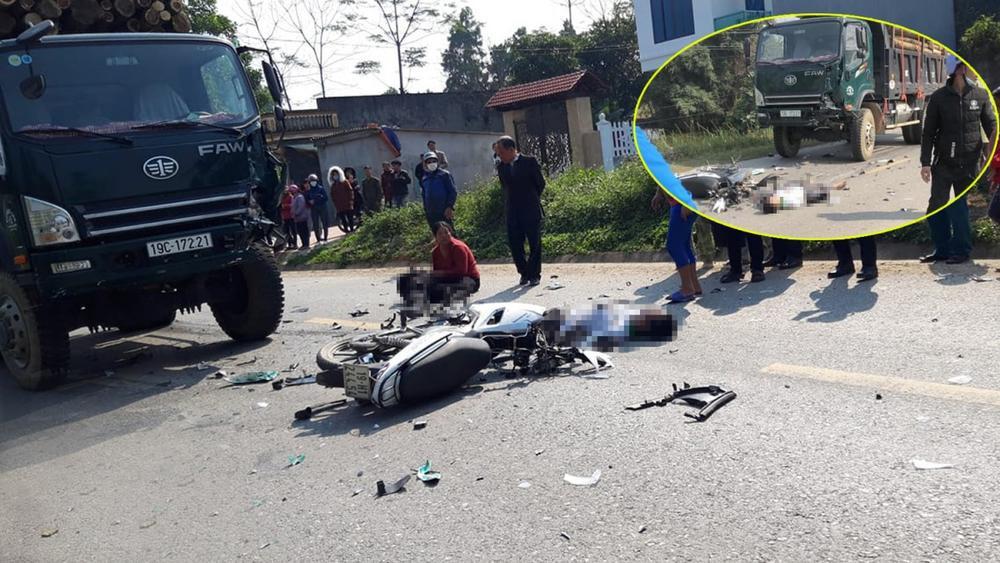 Ô tô tải tông xe máy ngày nghỉ lễ, 2 người đàn ông tử vong Ảnh 1