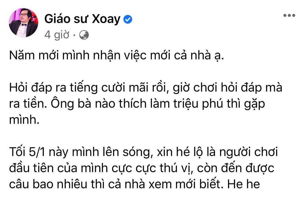 'Giáo sư Xoay' trở thành người dẫn tiếp theo của Ai Là Triệu Phú Ảnh 2