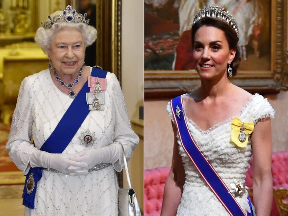 Kate Middleton học tập gu thời trang của Nữ hoàng Elizabeth II Ảnh 3
