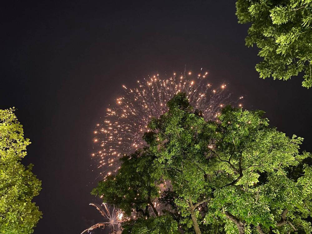 Pháo hoa mừng năm mới 2021 rực sáng trên bầu trời Hà Nội Ảnh 14