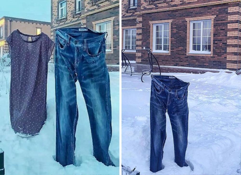 Mỳ đóng băng, quần áo 'đông cứng' ngoài trời âm 40 độ C Ảnh 8