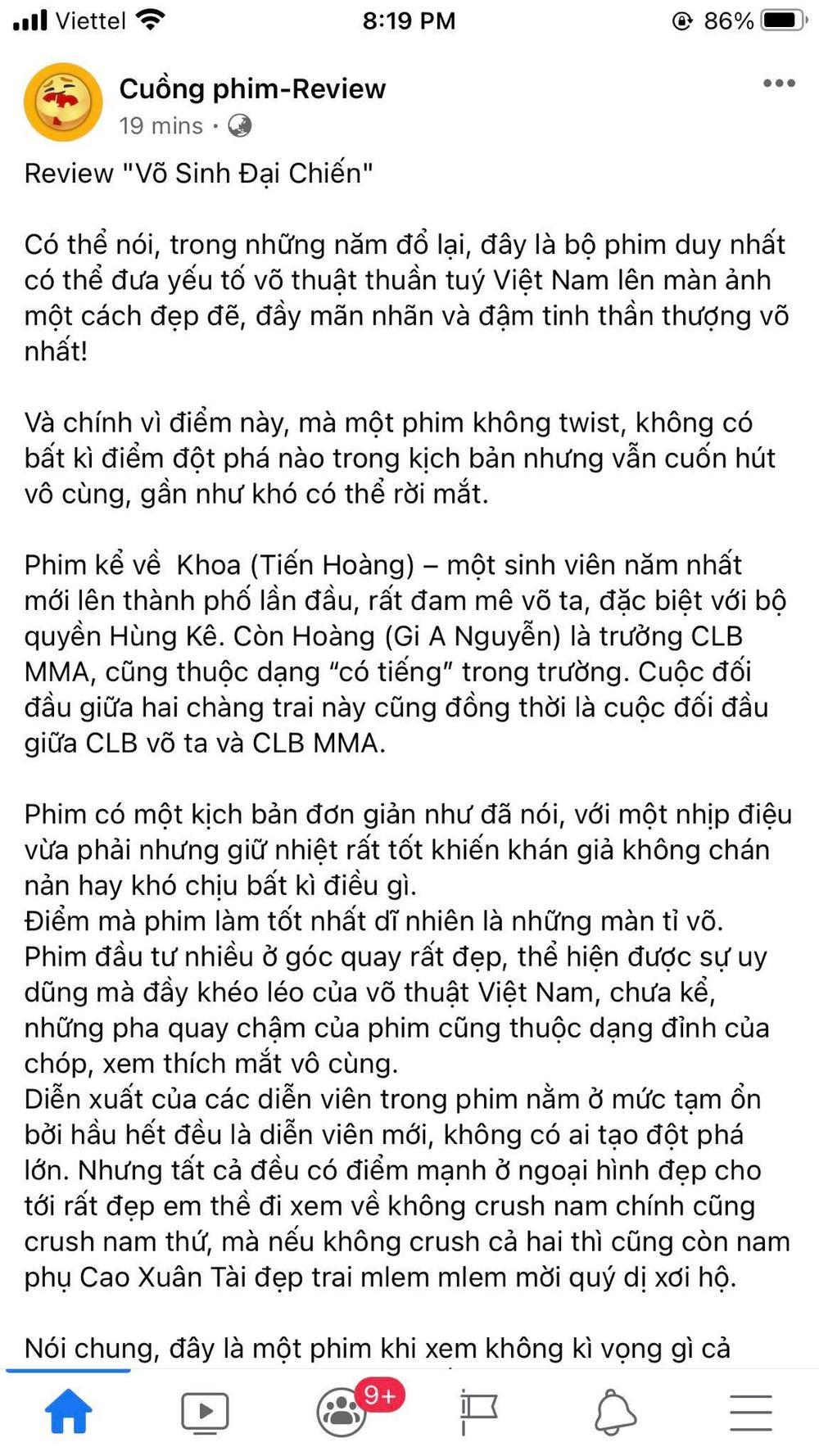 NSX 'Võ sinh đại chiến' tuyên bố rút phim sau 3 ngày ra mắt vì bị 'chèn ép suất chiếu' tại rạp Việt Ảnh 9