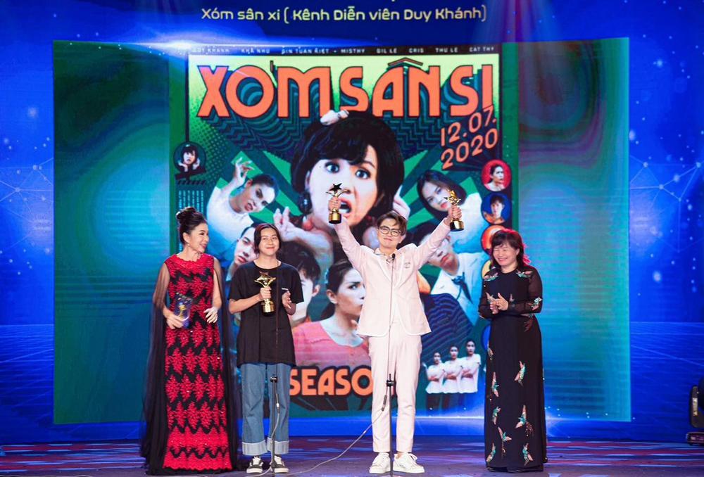 Duy Khánh - diễn viên duy nhất nhận 2 cúp tại 'Ngôi Sao Xanh 2020' nhờ webdrama Xóm sân si Ảnh 3