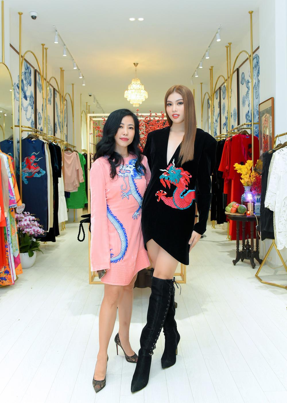 Hoa hậu Phương Khánh, Á hậu Ngọc Thảo duyên dáng với váy áo âm hưởng dân gian Ảnh 8