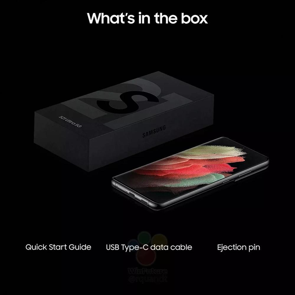 Lộ hình ảnh hộp đựng Galaxy S21 series mỏng dính: Không còn củ sạc, tai nghe Ảnh 1