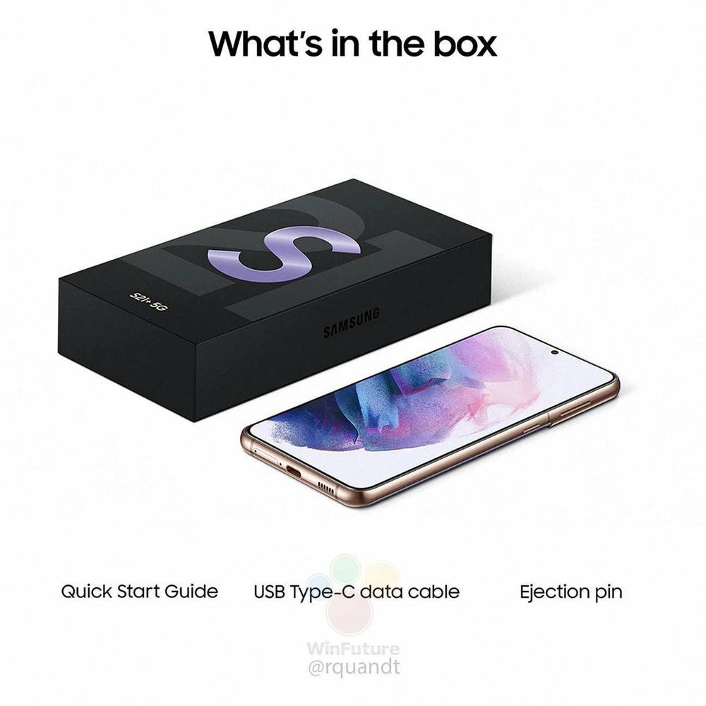 Lộ hình ảnh hộp đựng Galaxy S21 series mỏng dính: Không còn củ sạc, tai nghe Ảnh 2
