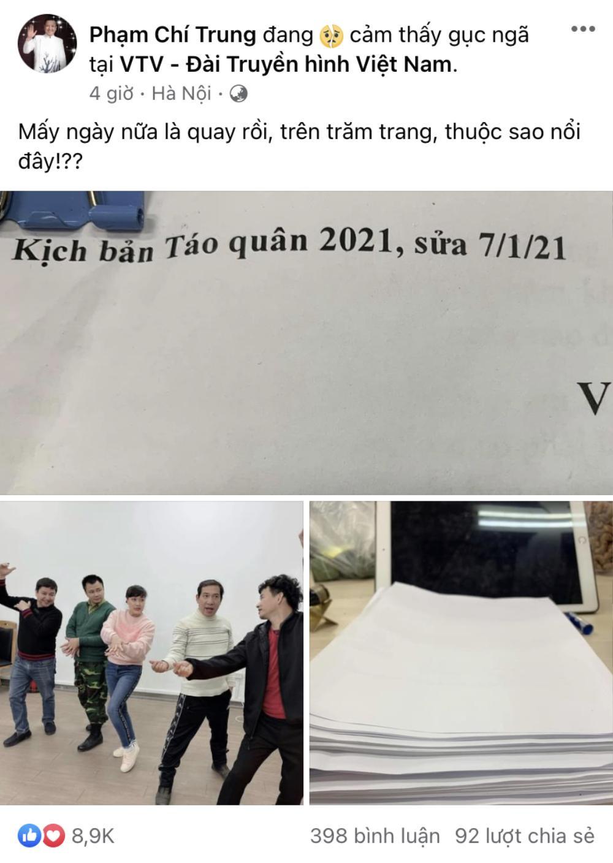 Ngày quay Táo Quân 2021 gần kề, nghệ sĩ Chí Trung: Kịch bản trăm trang thuộc sao nổi? Ảnh 2