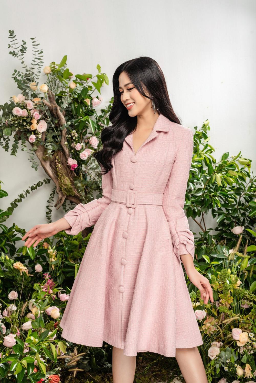 Hoa hậu Đỗ Thị Hà xinh như thiên thần hoa với váy áo du Xuân Ảnh 6