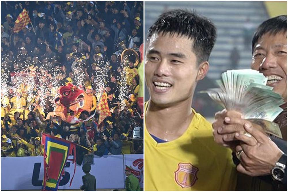 Truyền thông Trung Quốc ấn tượng hình ảnh CĐV Nam Định rút 100 triệu thưởng cầu thủ Ảnh 1