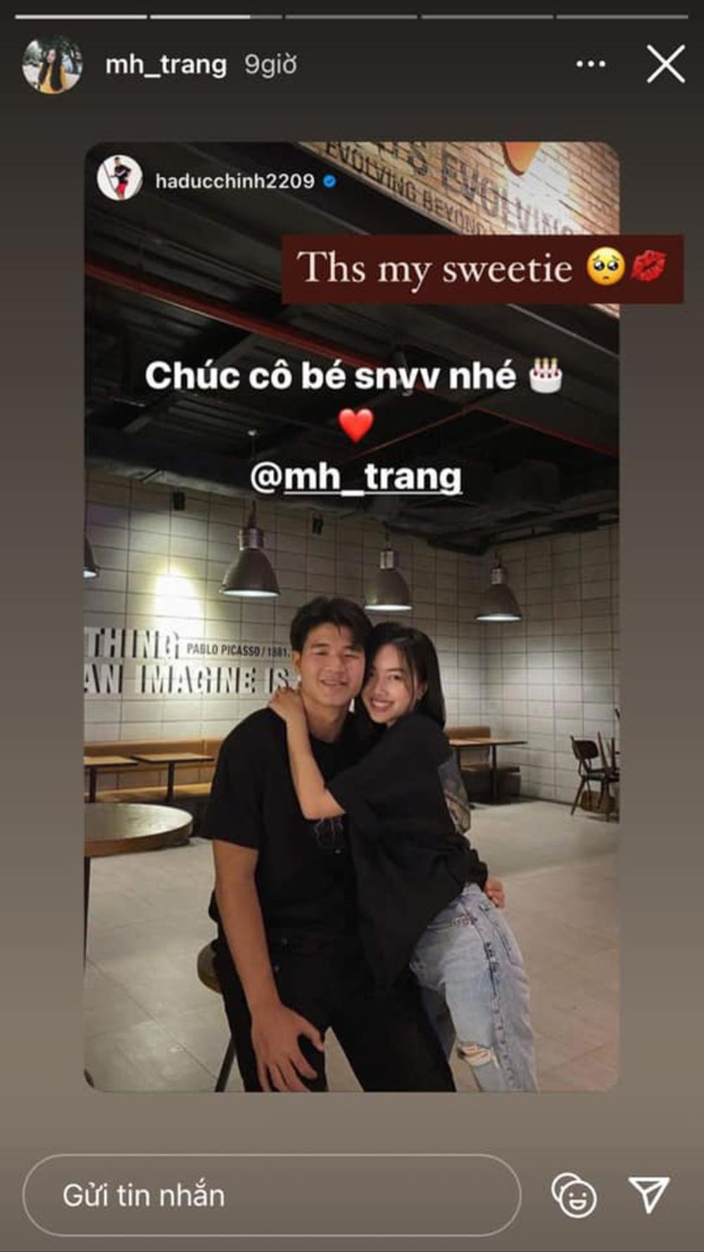 Hà Đức Chinh ngọt ngào chúc sinh nhật bạn gái Mai Hà Trang Ảnh 2