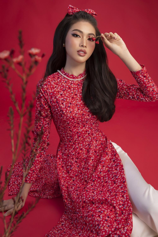 Top 3 Hoa hậu Việt Nam 2020 Đỗ Hà - Phương Anh - Ngọc Thảo chào xuân 'ngọt lịm' với áo dài cổ điển Ảnh 14