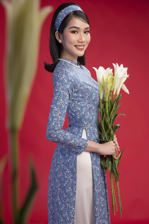 Top 3 Hoa hậu Việt Nam 2020 Đỗ Hà - Phương Anh - Ngọc Thảo chào xuân 'ngọt lịm' với áo dài cổ điển Ảnh 7