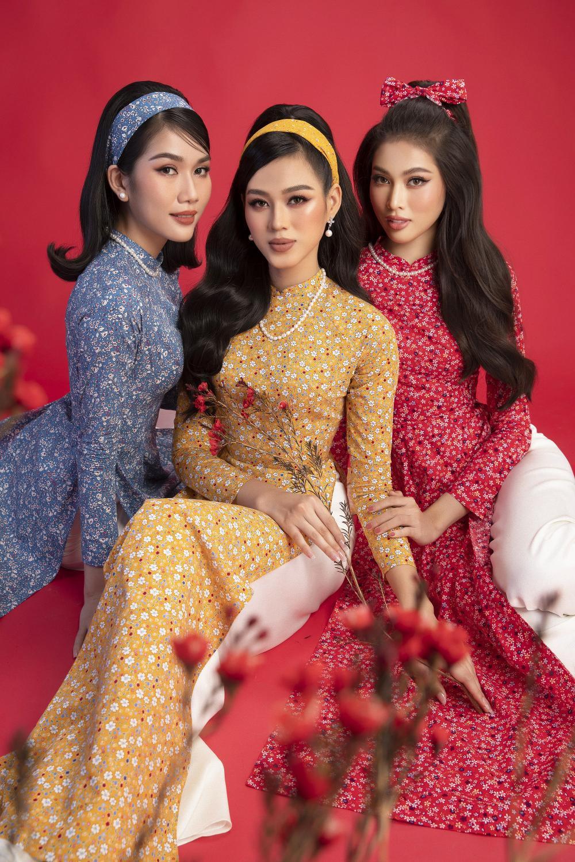 Top 3 Hoa hậu Việt Nam 2020 Đỗ Hà - Phương Anh - Ngọc Thảo chào xuân 'ngọt lịm' với áo dài cổ điển Ảnh 16