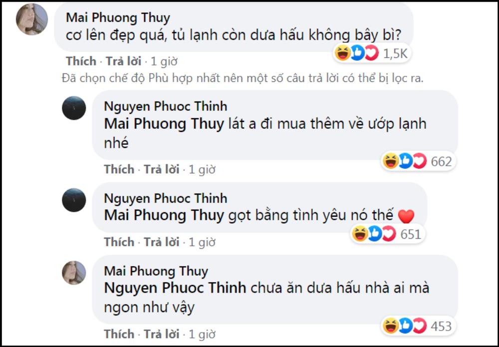 Mai Phương Thuý bị 'dòm ngó', Noo Phước Thịnh đáp trả: 'Chỉ muốn bụp mấy ông ngắm vợ mình' Ảnh 2
