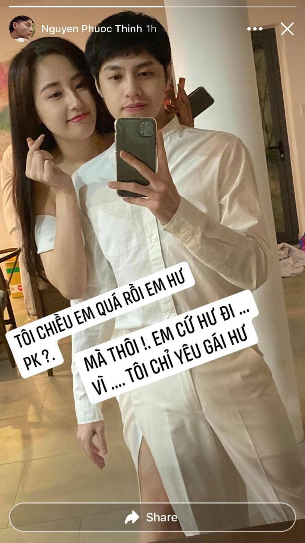 Mai Phương Thuý bị 'dòm ngó', Noo Phước Thịnh đáp trả: 'Chỉ muốn bụp mấy ông ngắm vợ mình' Ảnh 4