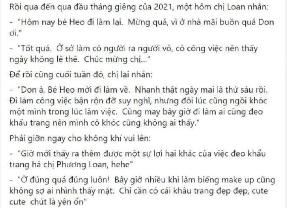 Don Hồ kể về ca sĩ Phương Loan: Đi làm nhớ anh Chí Tài, khóc đeo khẩu trang để không ai nhìn thấy Ảnh 2