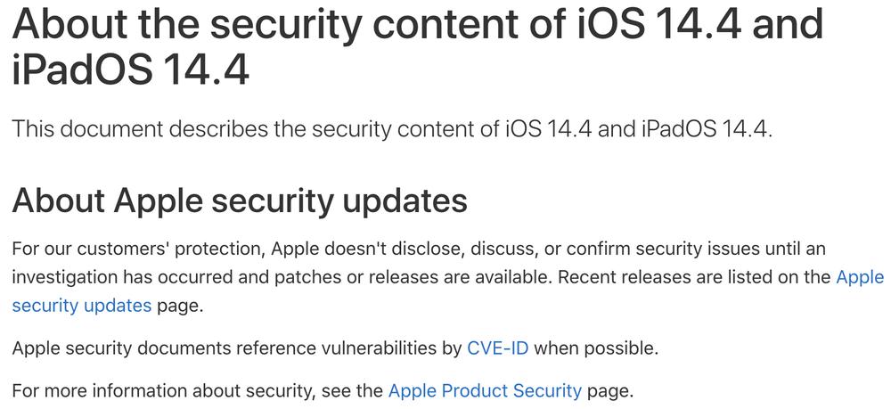 iOS 14.4 vá 3 lỗi bảo mật nguy hiểm, Apple khuyến cáo người dùng iPhone nên cập nhật ngay Ảnh 2