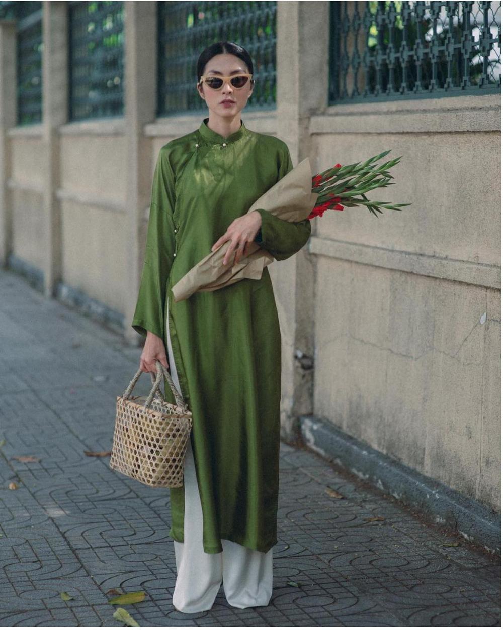 Nao lòng trước vẻ đẹp của Tăng Thanh Hà khi mặc áo dài Sài Gòn xưa Ảnh 2