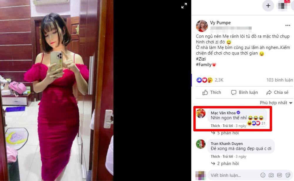 Bà xã đăng ảnh khoe dáng sau sinh, Mạc Văn Khoa khen một câu khiến dân mạng 'ngượng chín mặt' Ảnh 2