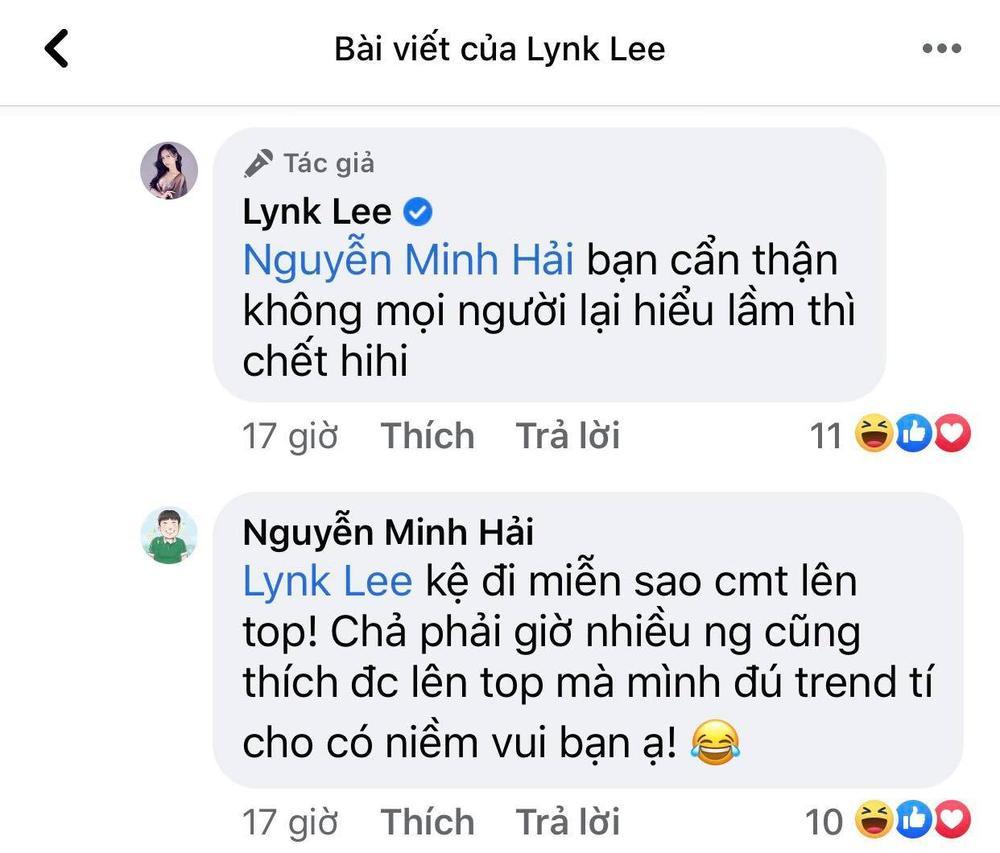 Bạn trai Hòa Minzy khiến dân tình hoang mang khi gọi Lynk Lee là 'em yêu' Ảnh 3