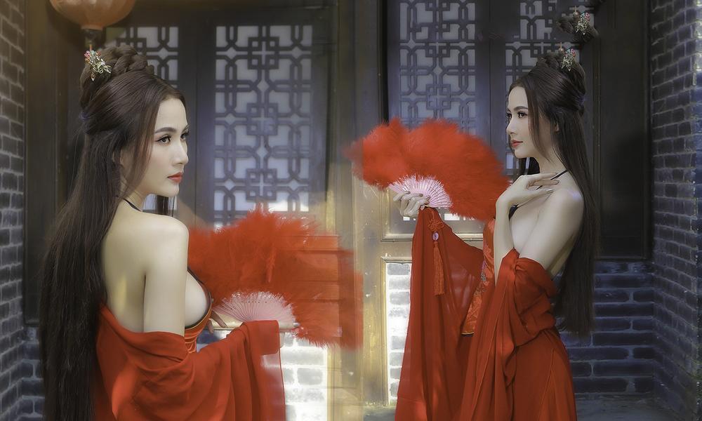 Phan Thị Mơ hóa tiên nữ, hững hờ thềm ngực quyến rũ mê hồn Ảnh 1
