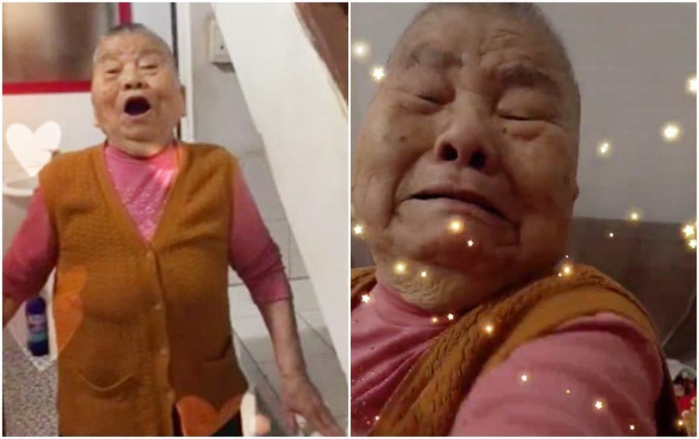 Cháu gái đi học xa lén trở về nhà, bà ngoại vừa nhìn thấy đã vỡ òa khiến ai cũng rưng rưng Ảnh 1