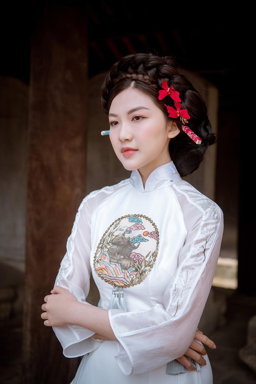 Trước thềm Tết Tân Sửu 2021, diễn viên Lương Thanh tung bộ hình áo dài đậm chất xuân Ảnh 13