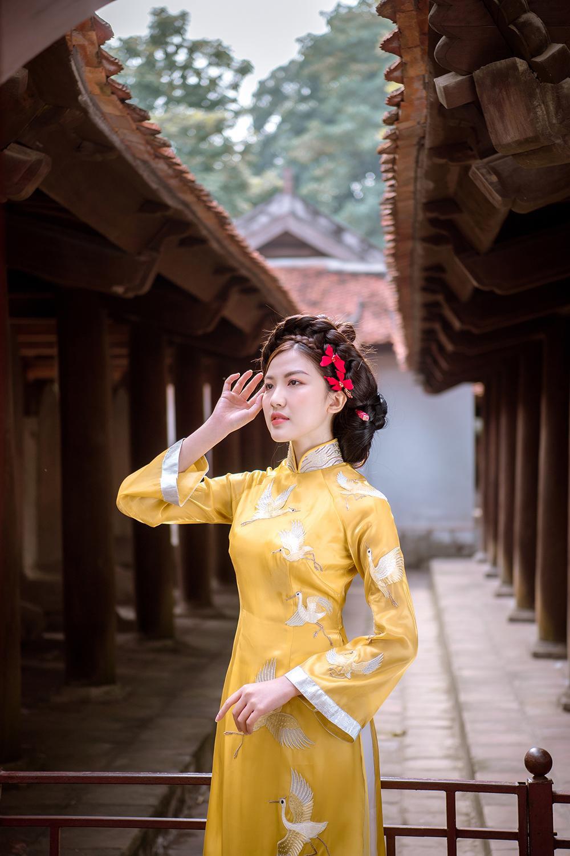 Trước thềm Tết Tân Sửu 2021, diễn viên Lương Thanh tung bộ hình áo dài đậm chất xuân Ảnh 18