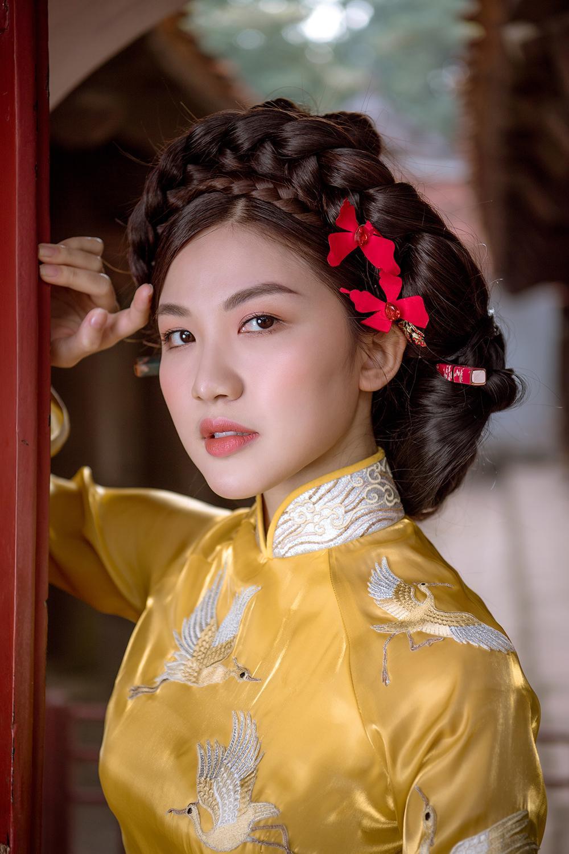 Trước thềm Tết Tân Sửu 2021, diễn viên Lương Thanh tung bộ hình áo dài đậm chất xuân Ảnh 4